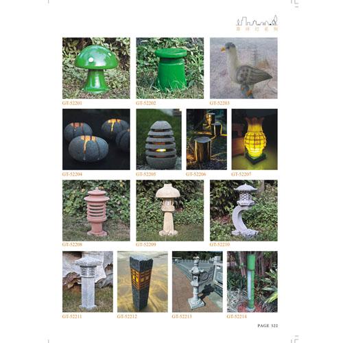 仿石动物造型树脂草坪灯