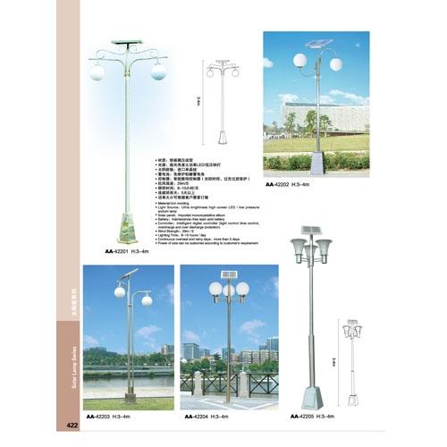 经典不锈钢太阳能庭院路灯