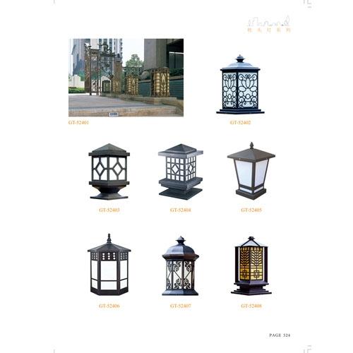 中山专业生产豪华方形柱头灯路灯厂家