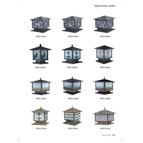 中式镂空雕花围墙柱头灯厂价直销
