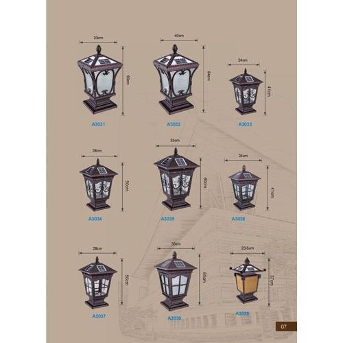 优质高档太阳能柱头灯