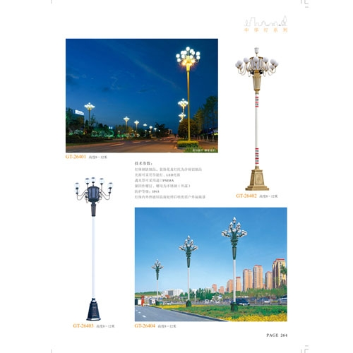 8至12米广场道路装饰照明中华灯