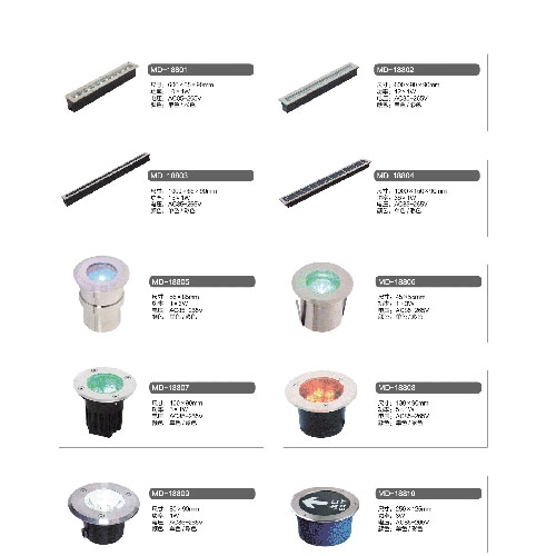 不锈钢LED方向指示埋地灯
