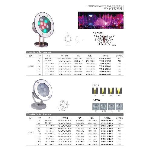 大功率LED节能水底灯
