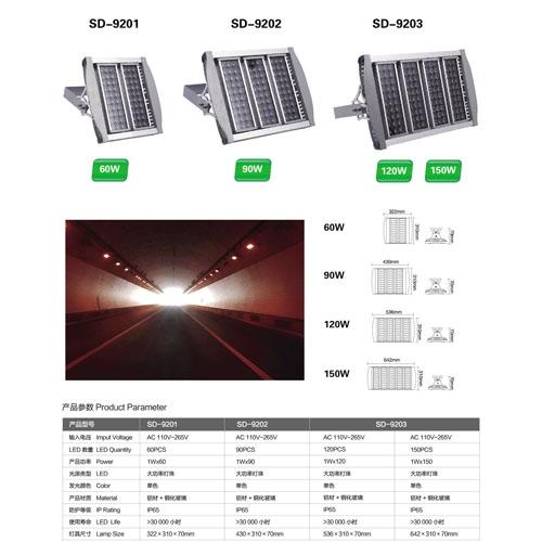 150W模组LED隧道投光灯