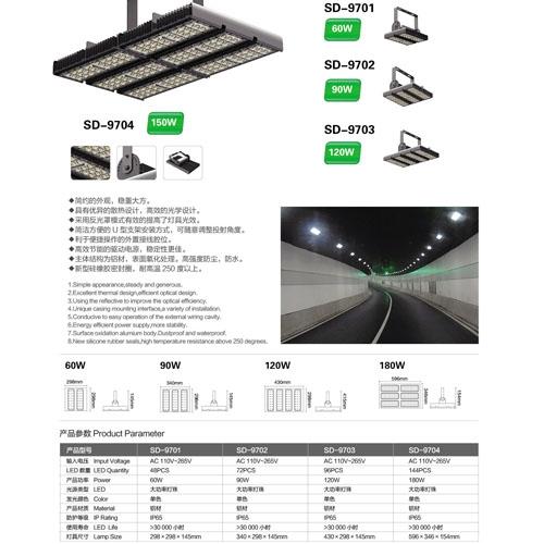 照明工程LED模组隧道投光灯
