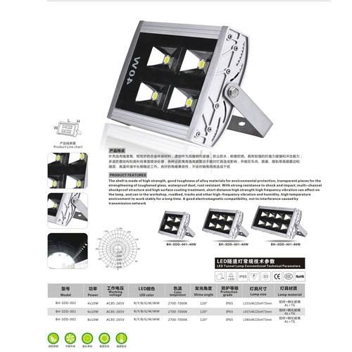 40-80W贴片LED隧道照明投光灯