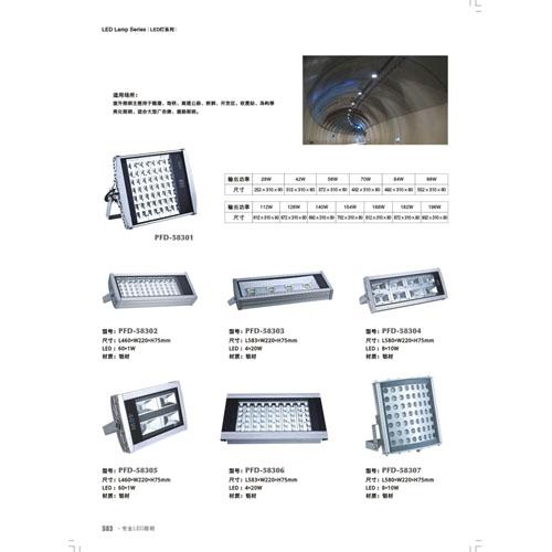 厂价直供优质铝材LED隧道投光灯