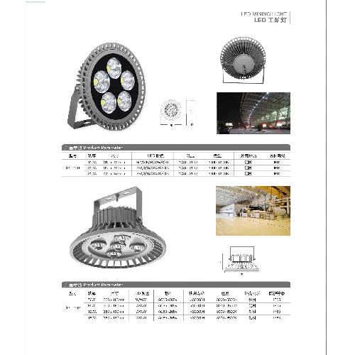 厂房照明用大瓦数LED工矿灯投光灯